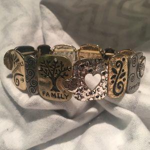 Jewelry - Spiritual Quote Bracelet Gold Silver Stretchy